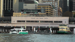 Circular Quay Port in Sydney 04 Stock Video Footage