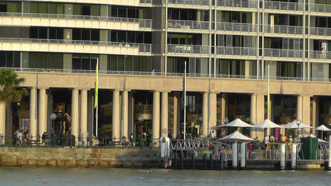 Circular Quay Port in Sydney 06 Stock Video Footage