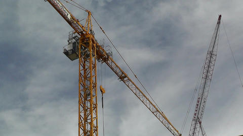 Construction Work and Crane 02 Stock Video Footage