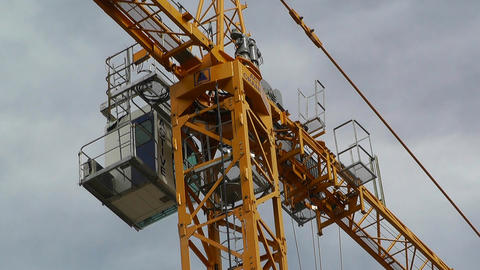 Construction Work and Crane 04 Stock Video Footage