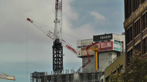 Construction Work and Cranes in Sydney 02 Stock Video Footage