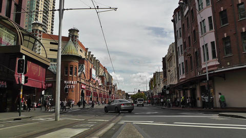 Haymarket Sydney Market City Hay Street 01 Stock Video Footage
