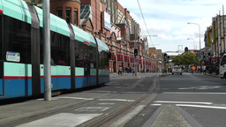 Haymarket Sydney Market City Hay Street 03 tram Stock Video Footage
