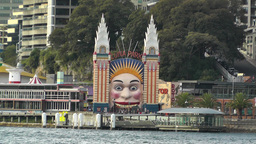 Luna Park entrance in Sydney Stock Video Footage