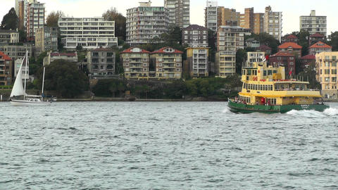 North Sydney view 08 ferry Stock Video Footage