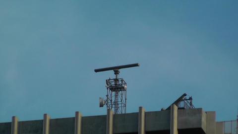 Radar on Rooftop Stock Video Footage