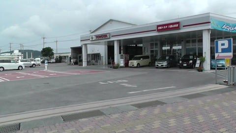 Rural Japanese Town in Okinawa Islands 17 car handheld Stock Video Footage