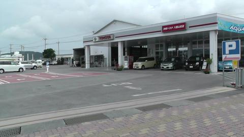 Rural Japanese Town in Okinawa Islands 17 car handheld Stock Video Footage