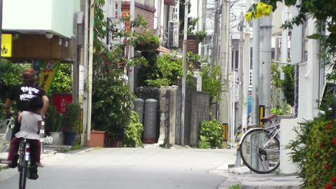 Rural Town in Okinawa Islands 23 street Stock Video Footage