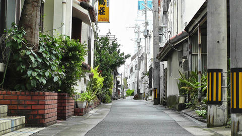 Rural Town Street in Okinawa Islands 03 Stock Video Footage