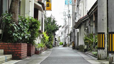Rural Town Street in Okinawa Islands 03 Stock Video Footage