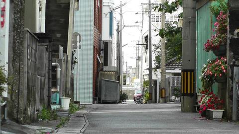 Rural Town Street in Okinawa Islands 18 Stock Video Footage