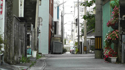 Rural Town Street in Okinawa Islands 18 Footage