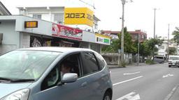Rural Town Street in Okinawa Islands 20 traffic Stock Video Footage