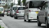 Rural Town Traffic in Okinawa Islands 02 Footage