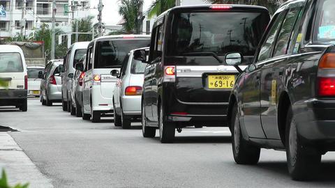 Rural Town Traffic in Okinawa Islands 02 Footage