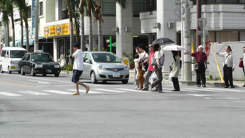 Rural Town Traffic in Okinawa Islands 08 Stock Video Footage