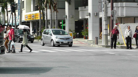 Rural Town Traffic in Okinawa Islands 08 Footage
