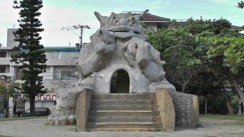Shiisa Statue Protector of Households Ishigaki Okinawa... Stock Video Footage