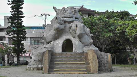 Shiisa Statue Protector of Households Ishigaki Okinawa Islands 01 Footage