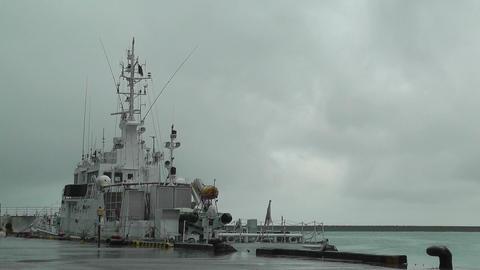 Ship in Ishigaki Okinawa Port Stock Video Footage