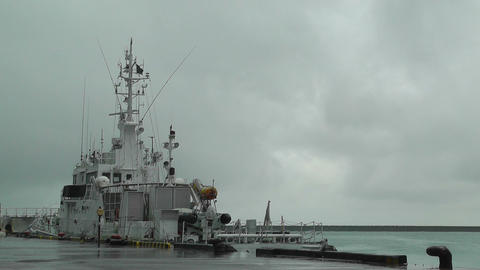 Ship in Ishigaki Okinawa Port Footage
