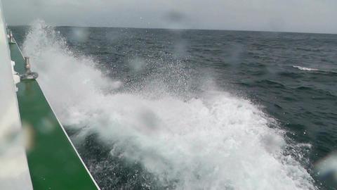 Side of a Ship 01 foam Stock Video Footage