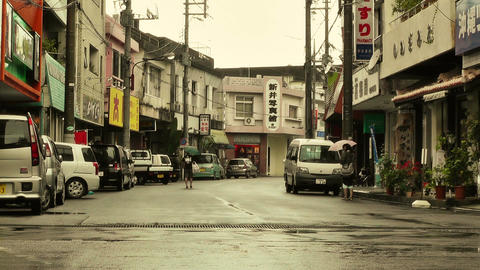 Street in Okinawa Islands stylized 02 Stock Video Footage