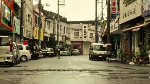 Street in Okinawa Islands stylized 02 Stock Video Footage