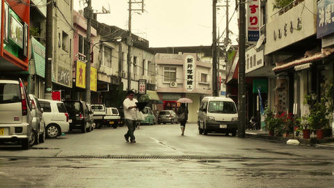 Street in Okinawa Islands stylized 02 Footage