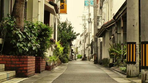 Street in Okinawa Islands stylized 04 Stock Video Footage