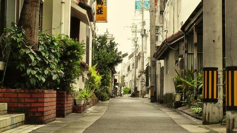 Street in Okinawa Islands stylized 04 Stock Video Footage