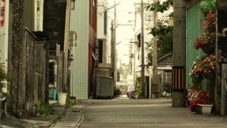 Street in Okinawa Islands stylized 08 Stock Video Footage