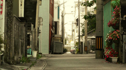 Street in Okinawa Islands stylized 08 Footage