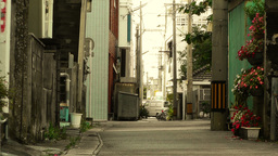 Street in Okinawa Islands stylized 08 Stock Video Footage