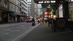 Sydney Downtown 03 60fps native slowmotion handheld Stock Video Footage