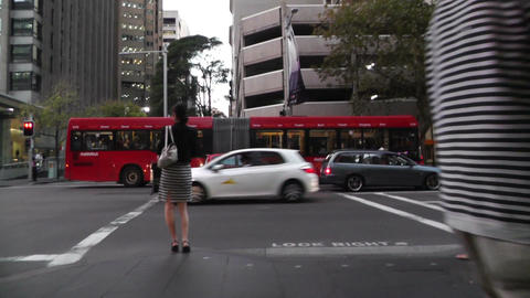 Sydney Downtown 05 60fps native slowmotion handheld Stock Video Footage