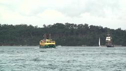 Sydney Harbour ships 01 Footage
