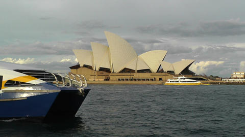 Sydney Opera House 07 ships Stock Video Footage