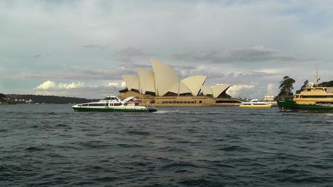 Sydney Opera House 09 ships Stock Video Footage