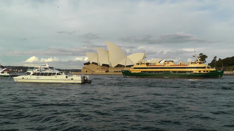 Sydney Opera House 09 ships Stock Video Footage