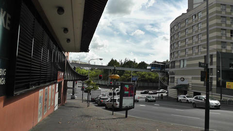 Sydney outer Liverpool Street Monorail Stock Video Footage