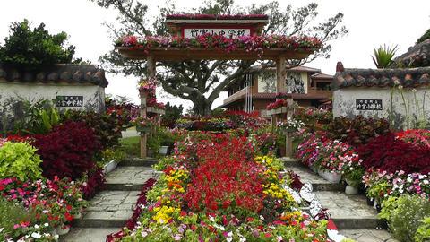 Taketomi Island Okinawa Japan 05 elementary school and japanese garden entrance Live Action