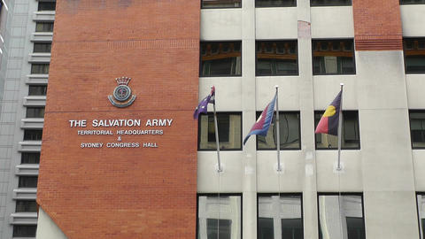The Salvation Army Territorial Headquarter in Sydney Stock Video Footage