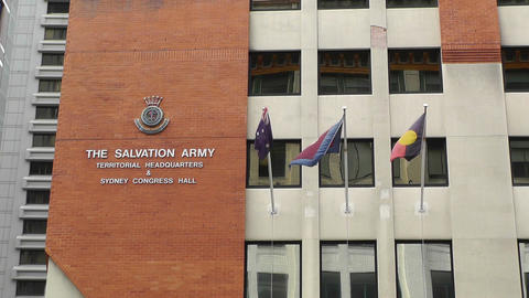 The Salvation Army Territorial Headquarter in Sydney Footage