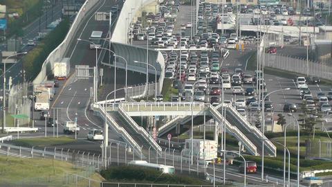 Tokyo Narita Airport 08 parking lot Stock Video Footage