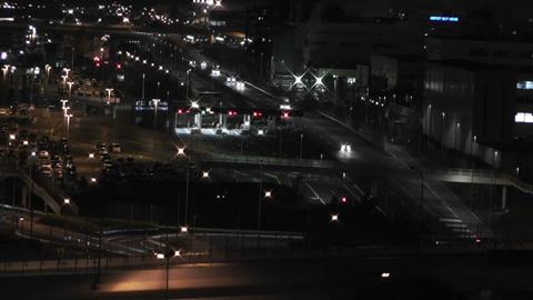Tokyo Narita Airport at Night 02 Stock Video Footage