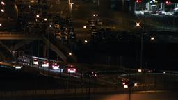 Tokyo Narita Airport at Night 04 traffic Footage