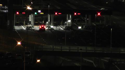 Tokyo Narita Airport at Night 06 control gates Stock Video Footage