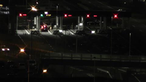 Tokyo Narita Airport at Night 06 control gates Footage